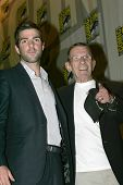 Zachary Quinto and Leonard Nimoy
