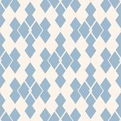 Vector Abstract Geometric Seamless Pattern. Light Blue And White Ornamental Texture With Rhombuses,  poster