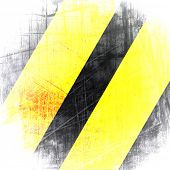 pic of warning-signs  - Warning Background Texture With Common Black and Yellow Stripes - JPG