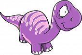 Crazy Insane Purple Dinosaur Vector illustration