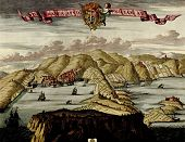 Antique Map Of Hills , Towns And Harbors,