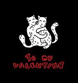 Hand Drawn Cats in Love