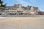 Waterfront Of Town Cancale In Summer Day, France