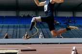 Athlete Jumper Handicap On Prosthesis Long Jump Athletics poster