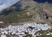 Morocco, Chefchaouen - charming little blue city at the base of the Rif Mountains