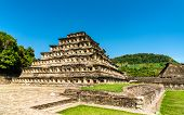 Pyramid Of The Niches At El Tajin Archeological Site, Unesco World Heritage In Mexico poster