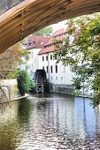 Old water mill at center of the Prague. Czech Republic