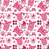 background with baby clothes