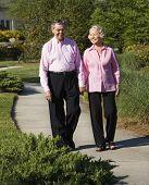 Mature Couple Walking.