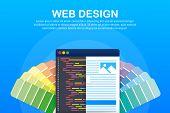 Web Design Illustration. Concept Of Creating Websites, Designed Banners For Ui, Ux Design And Web De poster