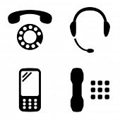 Four versions of the phone icon.