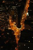 5th Avenue And Broadway From Empire State Building poster