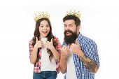 She Is My Little Princess. Man Golden Crown And Little Girl Kid Princess. Best Daughter Ever. Royal  poster