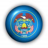 Bandeira de redondo botão EUA estado de Utah