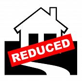 Reduced House For Sale Sign