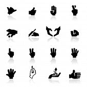 Icons set hands two