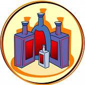 Постер, плакат: Пиктограмма алкоголь