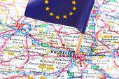 Road Map Of Brussels, Belgium