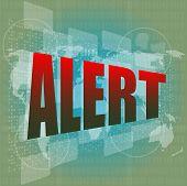 Alert Word On Digital Screen