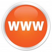 WWW Icon Orange Button