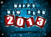 New Year 2013 In Blue Background