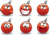 Christmas Ball Ball Emoticons