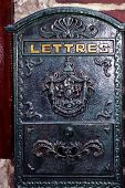 Ornate Cast Iron French Letterbox