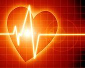 Heart Beat On Clinic Monitor