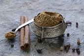 stock photo of garam masala  - Indian mix of ground spices garam masala - JPG