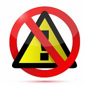 Dont Warning Sign Illustration Design