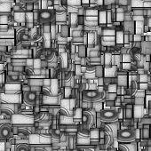 3D Sound System Fragmented Abstract Gray
