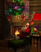 picture of cozy hearth  - Computer - JPG
