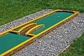picture of miniature golf  - Small golf course built for children in a recreational space - JPG