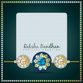vector creative raksha bandhan background
