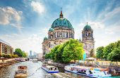 Berlin Cathedral. German Berliner Dom. A famous landmark on the Museum Island in Mitte, Berlin, Germ