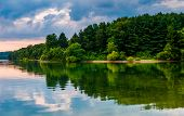 The Shore Of Lake Marburg, At Codorus State Park, Pennsylvania.