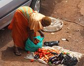 Female African Vegetable Vendor