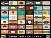 Vintage  Business Cards set. Vector Illustration in Eps 10 format.easy to edit