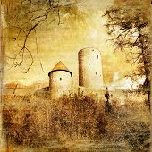 medieval castle - toned picture in retro style (more castles in my gallery)