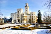 romantic white castle (Czechia)