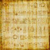stock photo of scribes  - ancient egyptian parchment - JPG