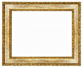 elegant wooden frame with golden borders