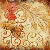 retro autumn composition