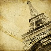 vintage paper with Eiffel tower and place for text