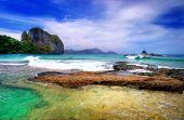 dramatic marine landscape