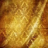 golden folded background with classic patterns