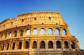 Colosseum on sunset