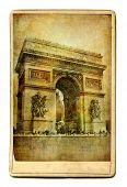 vintage cards - European landmarks -Arch de triumph poster