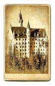 European landmarks- vintage cards- Neuschwanstein caste