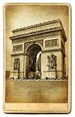 European landmarks-Parisian architecture-vintage cards series poster